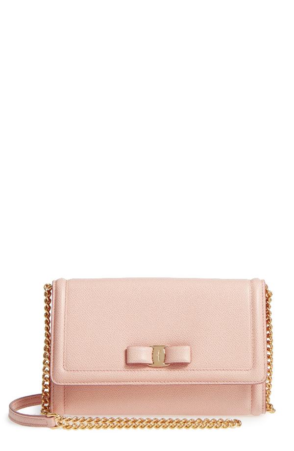 Salvatore Ferragamo Vara Leather Crossbody Bag - Pink In Bonbon ... 718a71fa3533d