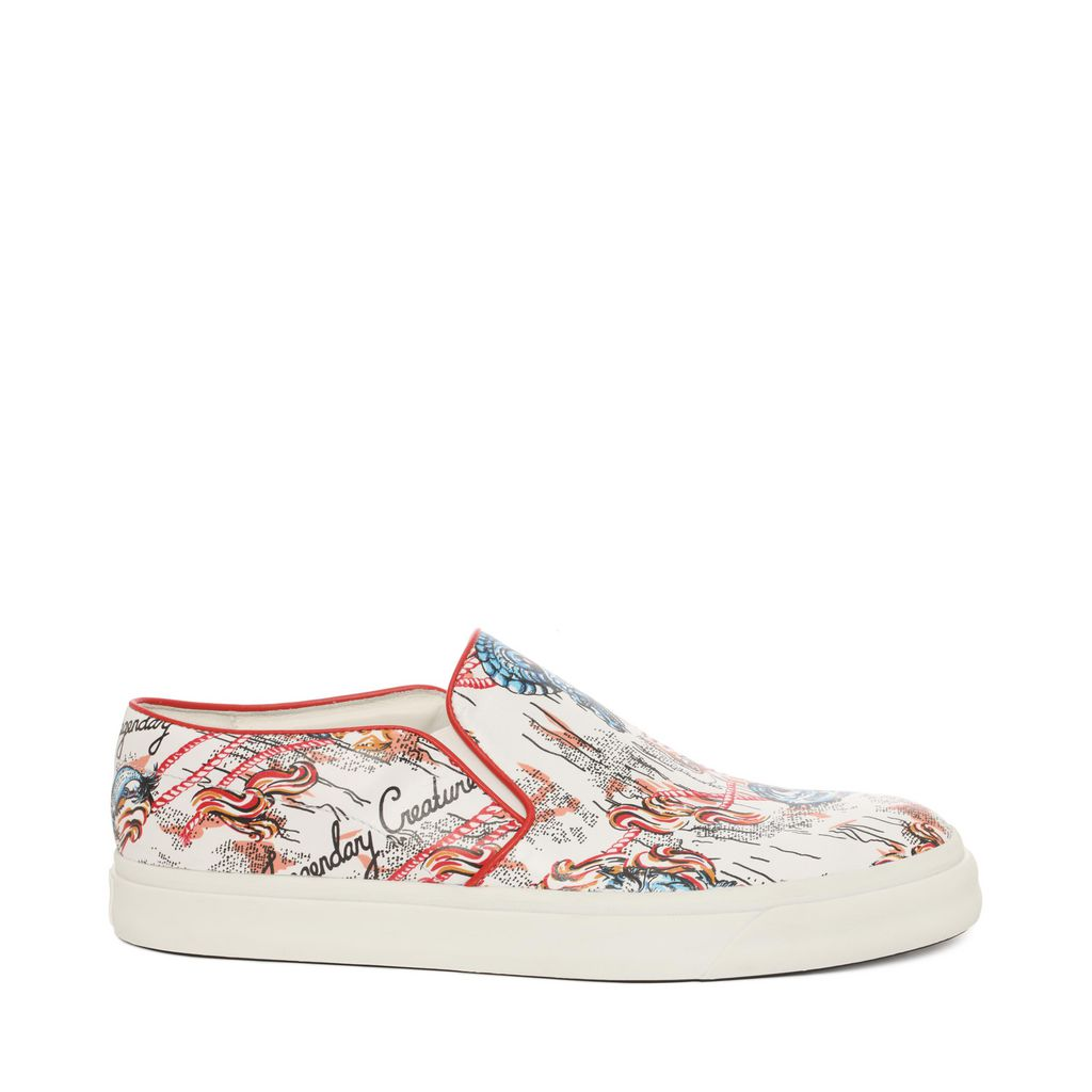 Alexander Mcqueen Slip On Skate Sneaker In Multicolor