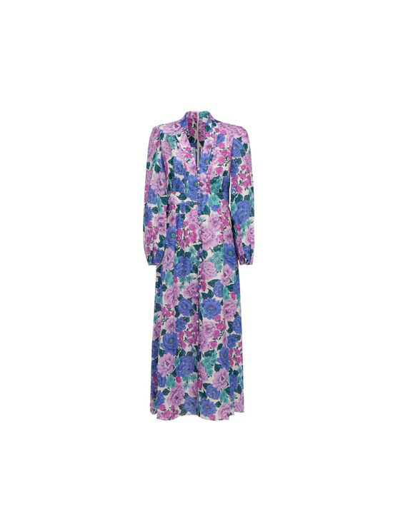 Zimmermann Poppy Plunge Midi Dress In Purple