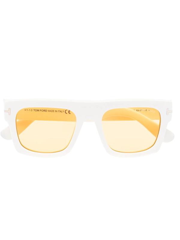 Tom Ford Ft0711 Square-frame Sunglasses In White