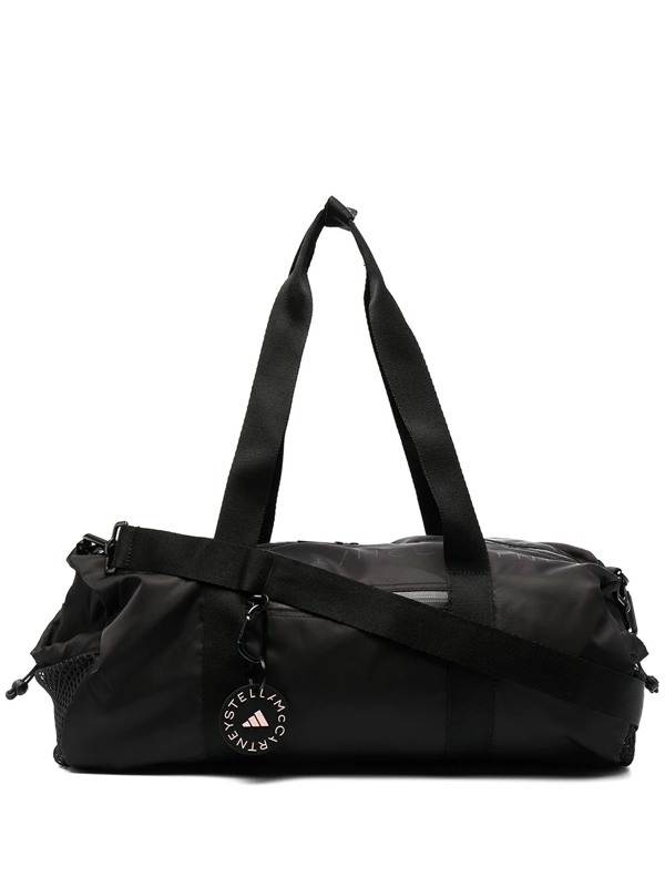 Adidas By Stella Mccartney Cylindrical Recycled-polyester Gym Bag In Black
