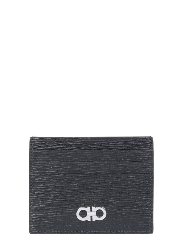 Salvatore Ferragamo Men's Black Other Materials Card Holder