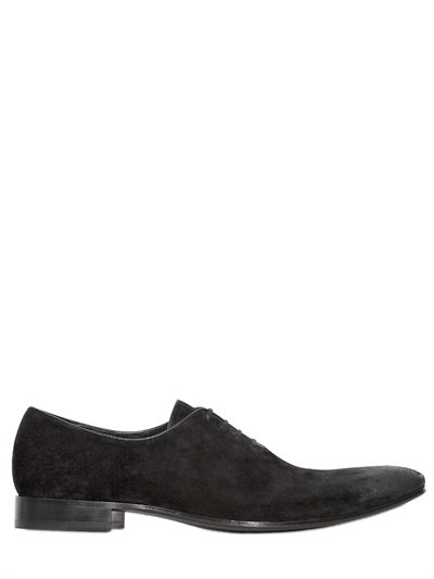 Haider Ackermann Reversed Leather Oxford Lace-up Shoes In Black