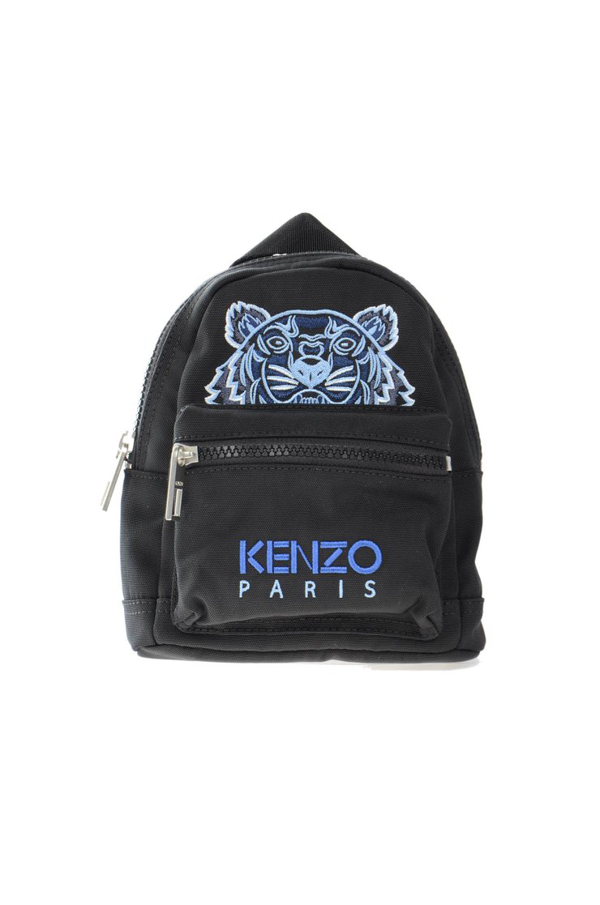 Kenzo Embroidered Backpack In F Noir