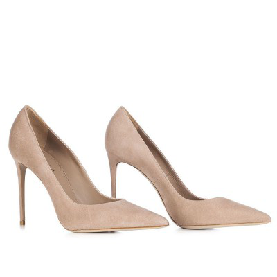 Le Silla Pointed Pump In Velour, Suede Calfskin In Pompei Colour H.100 Mm