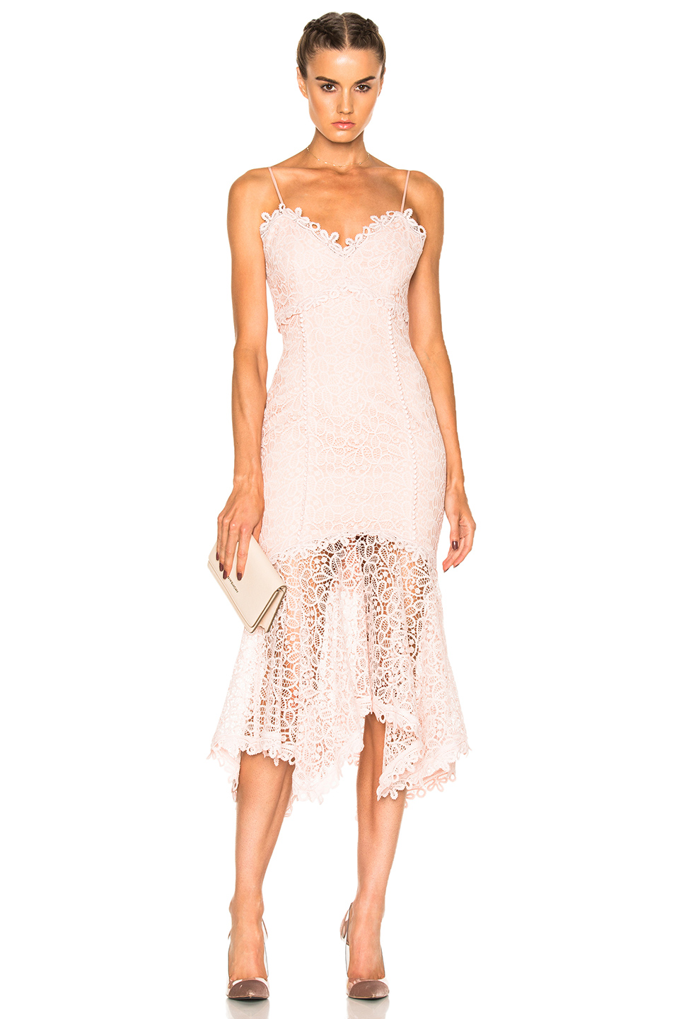 Guipure Lace Dress In Pink