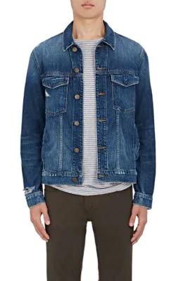 J Brand Men's Gorn Denim Trucker Jacket, Medium Blue