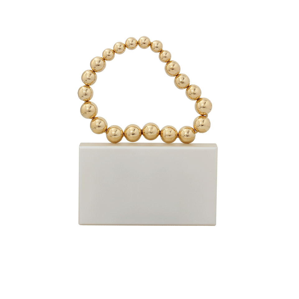 Charlotte Olympia Necklace Pandora Clutch In Wht-Gld