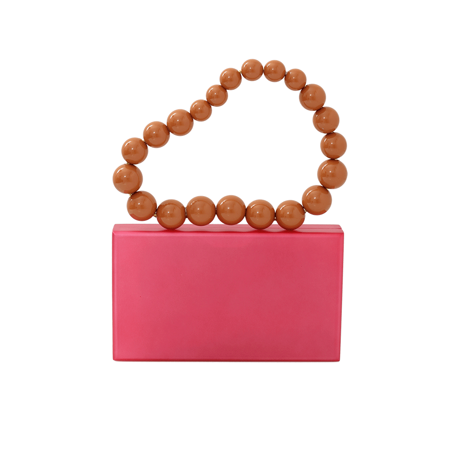 Charlotte Olympia Necklace Pandora Clutch In Pink