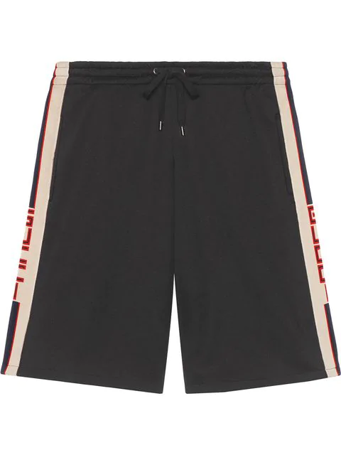 bc248dc7c Gucci Technical Jersey Shorts In Black | ModeSens