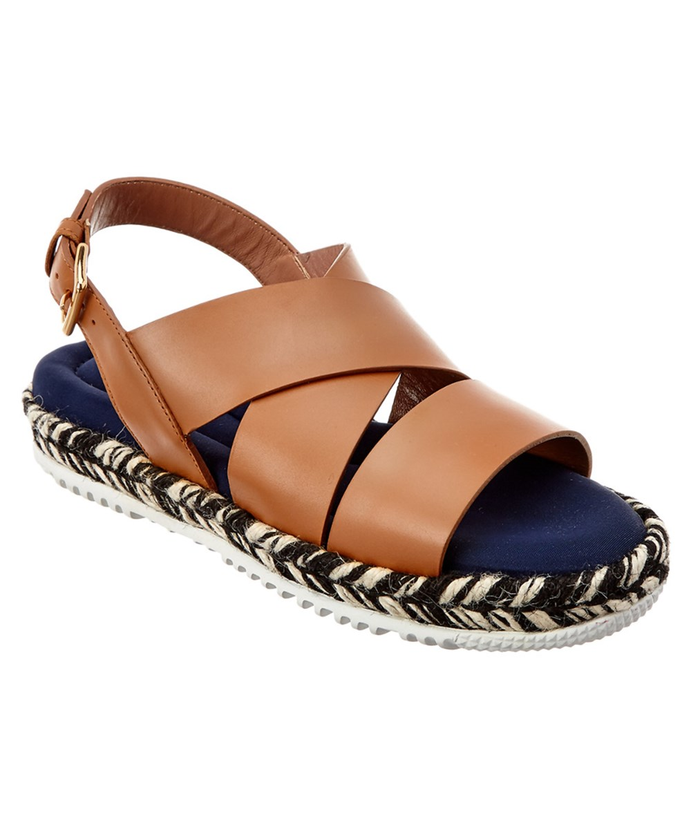 Marni Leather Sandal In Light Brown