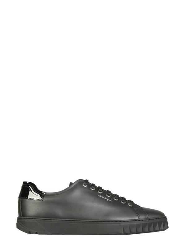 Salvatore Ferragamo Cube Sneaker In Black