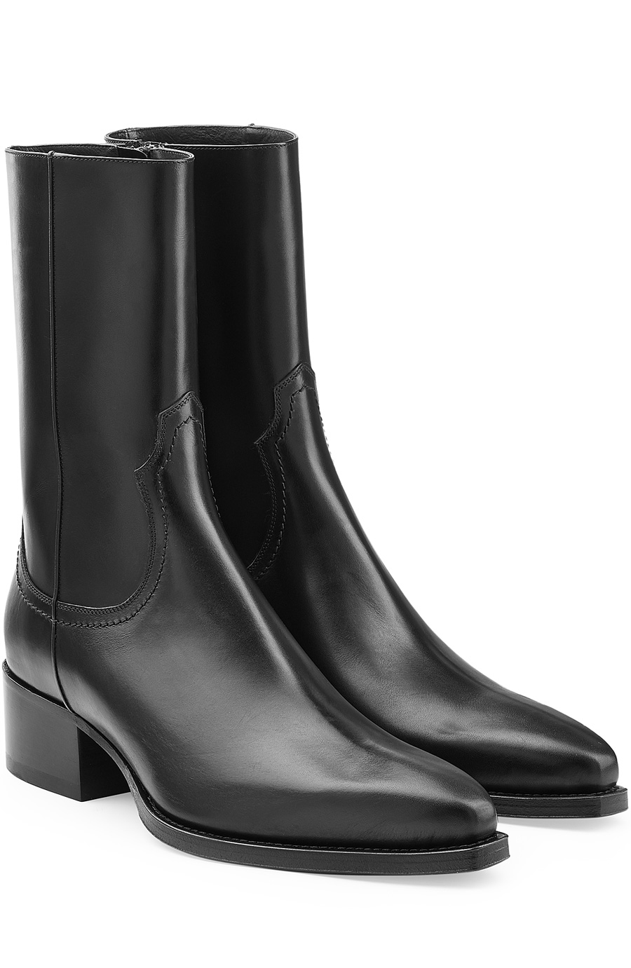 Dsquared2 Leather Ankle Boots In Black