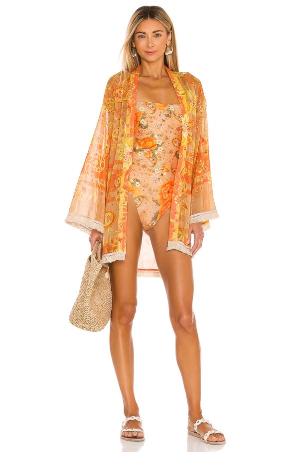 Agua Bendita X Revolve Juana Kimono In Orange