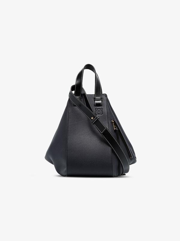 Loewe Blue Hammock Medium Leather Tote Bag