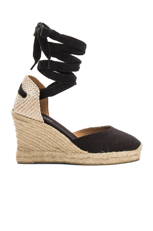 85c6f571186 Soludos Tall Lace Up Espadrille Wedge Sandals In Black