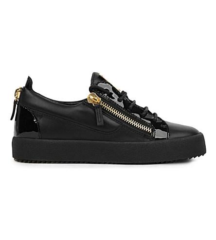 Giuseppe Zanotti - Black Calfskin Low-top Sneakers Nicki