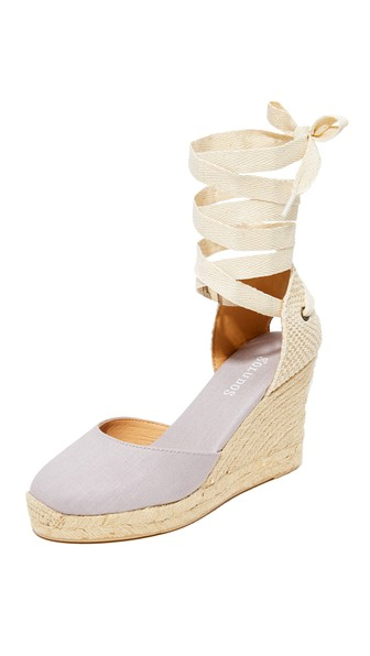 51a1b2615923 Soludos Women S Lace Up Espadrille Wedge Sandals In Gray