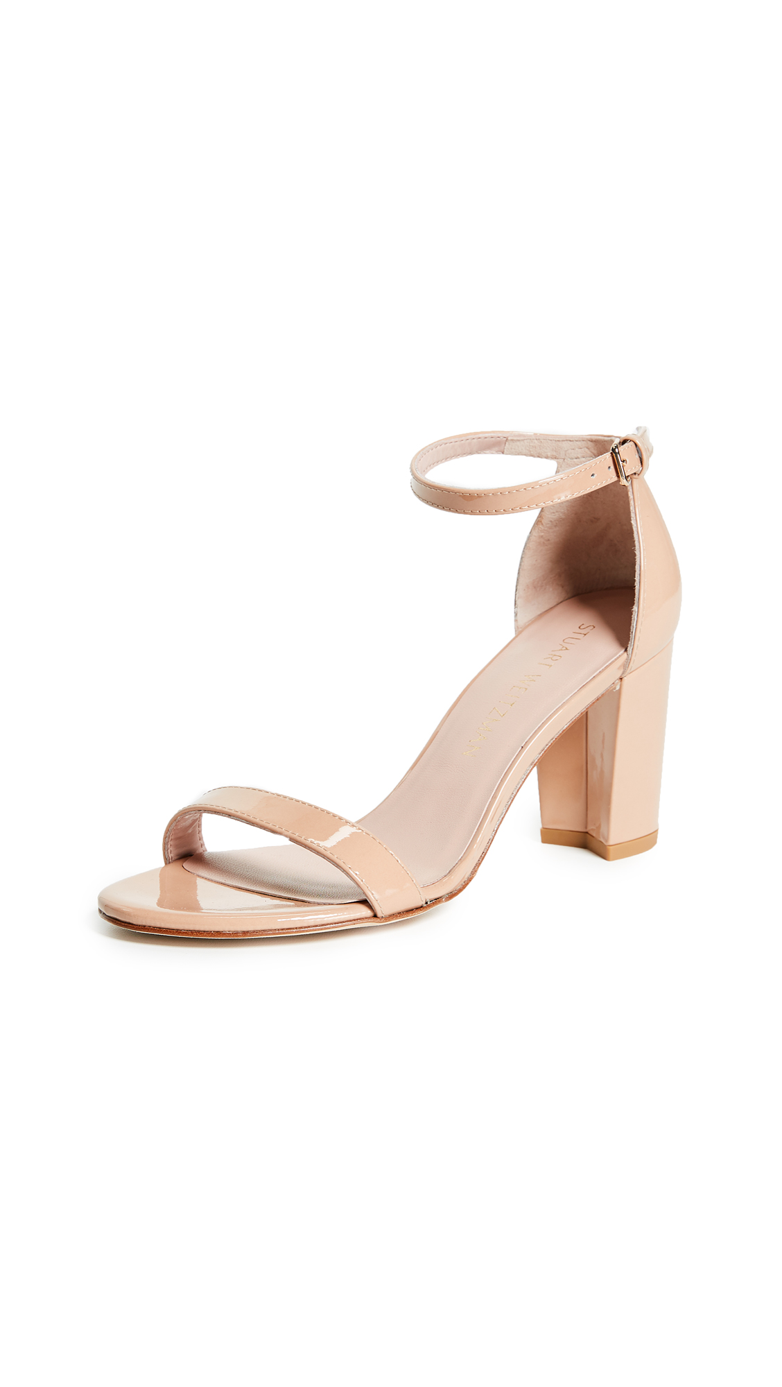 3a5e6211210 Nearlynude Nappa Leather Ankle Strap High Heel Sandals in Adobe