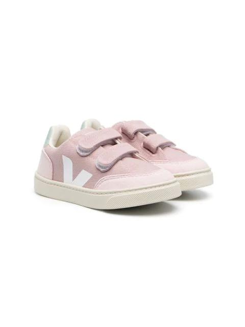 Veja Kids Sneakers Small V-12 Velcro For Girls In Pink