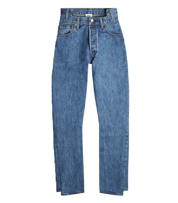 Vetements X Levi's Reworked High-Waisted Denim In Blue