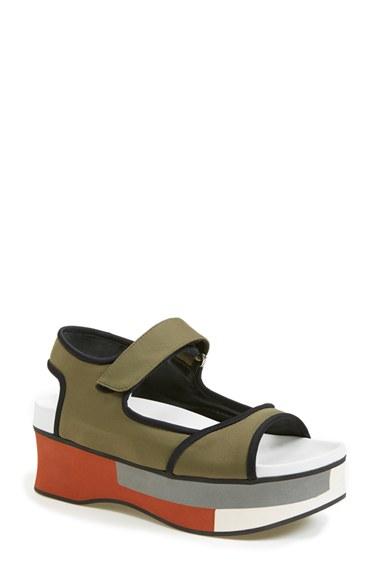 e62b609c5f1 Marni Colorblock Platform Sandal (Women) In Grass  Coal