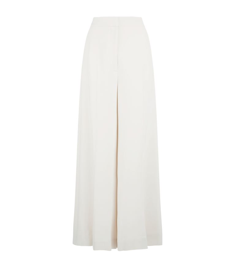 Stella Mccartney Darci Wide Leg Trousers In White