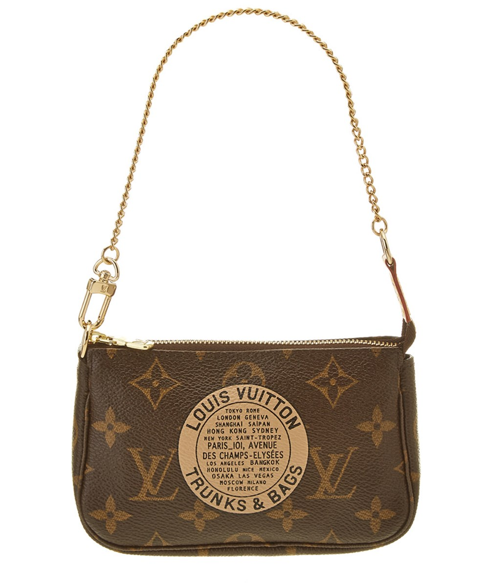 f58ee7a6eaee Louis Vuitton Limited Edition Trunks  Amp  Bags Monogram Canvas Mini  Pochette Accessoires  In Brown