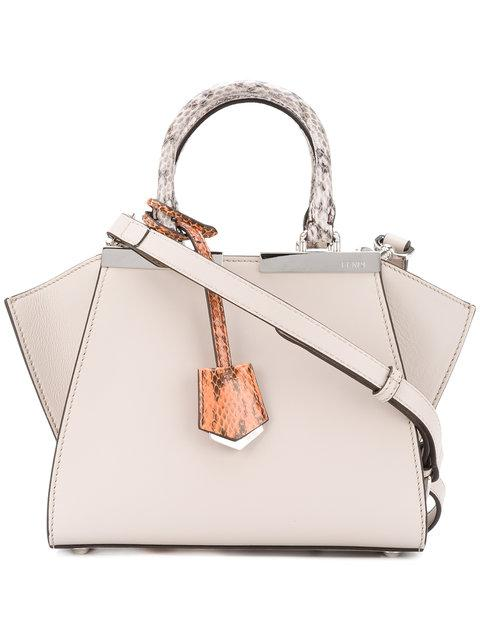 1a1ace797018 Fendi 3Jours Mini Leather Tote In Grey