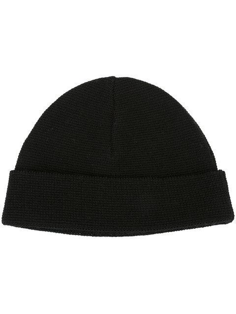 2e3f2533237bd Ami Alexandre Mattiussi Wool Knit Beanie Hat In Black