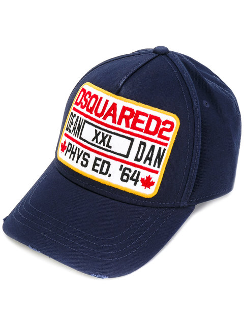 3b855ccd909 Dsquared2 Dean E Dan Fabric Blue Cap