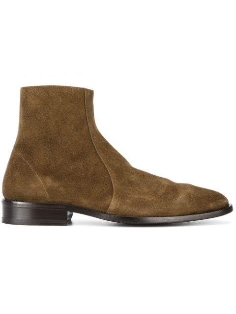 Balenciaga Pointed Ankle Boots In Colour: Khaki-brown