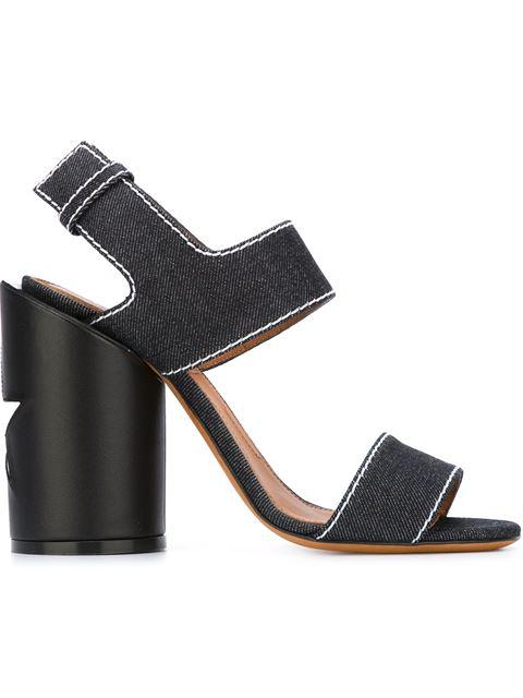 Givenchy Edgy Denim Cylinder-heel Sandal, Blue
