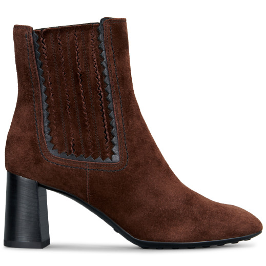 Tod's Ankle Boot In Suede In Brown