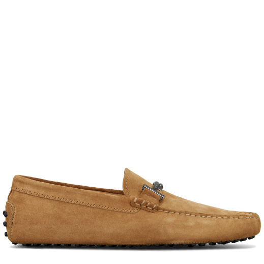 Tod's Gommino Driving Shoes In Suede In Beige