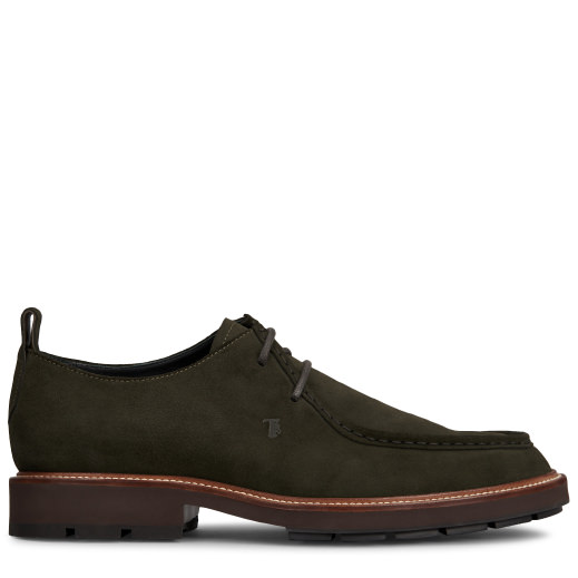 Tod's Ankle Boot In Suede In Green