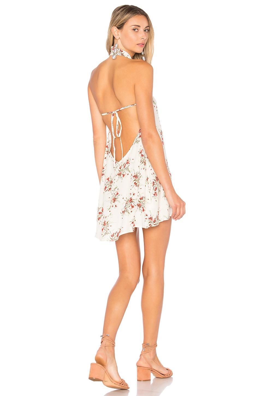 Flynn Skye Ariana Mini Dress In Ivory