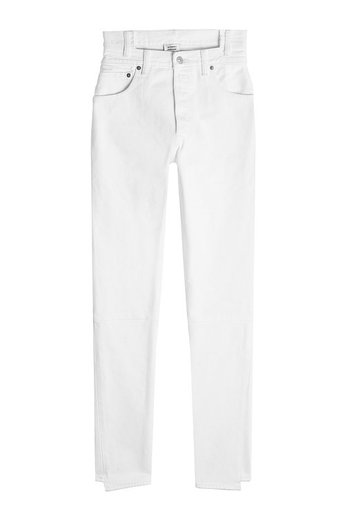 Vetements X Levi's Reworked High-Waisted Denim In White