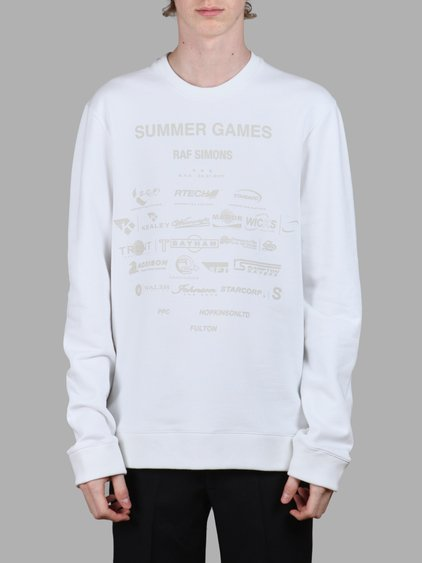 8c1dd281ab04 Raf Simons Men s White Summer Games Sweater