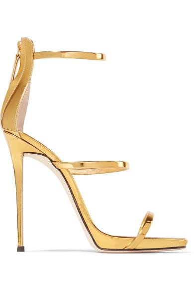bb41bc9c3fb Harmony Metallic Leather Sandals in Gold
