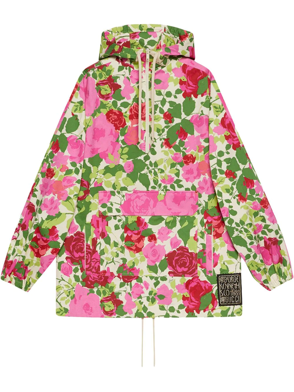 Gucci Ken Scott Print Hooded Sweatshirt In Multicolor
