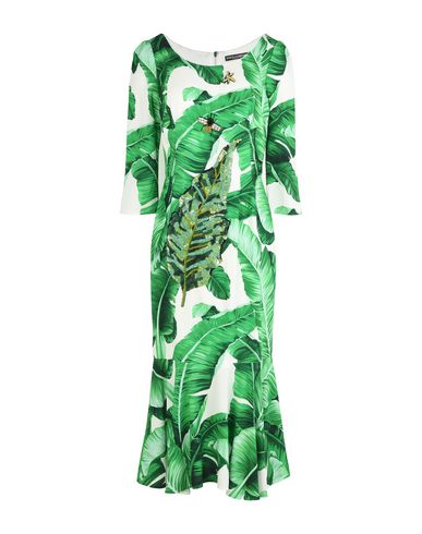 Dolce & Gabbana Midi Dress In Green