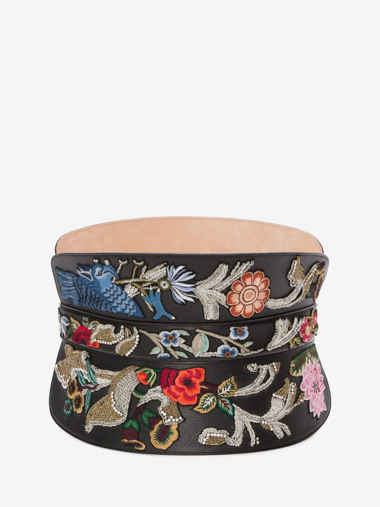 Alexander Mcqueen Embroidered Corset Belt