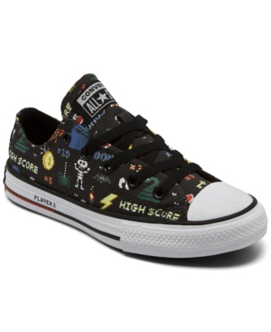 Converse Kids' Little Boys Gamer Chuck Taylor All Star Casual Sneakers From Finish Line In Storm Wind/ Black/ White