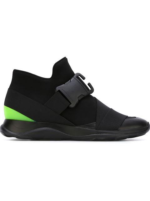 Christopher Kane Black Neon Spoiler High-top Sneakers