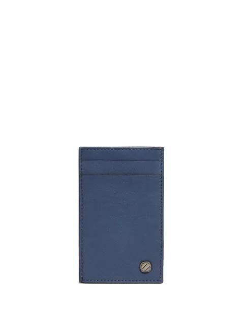 Ermenegildo Zegna Logo-embellished Cardholder In Blue