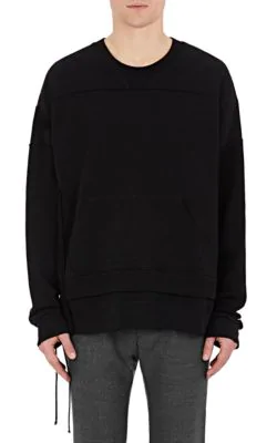Maison Margiela French Cotton Terry Oversized Sweatshirt In Black