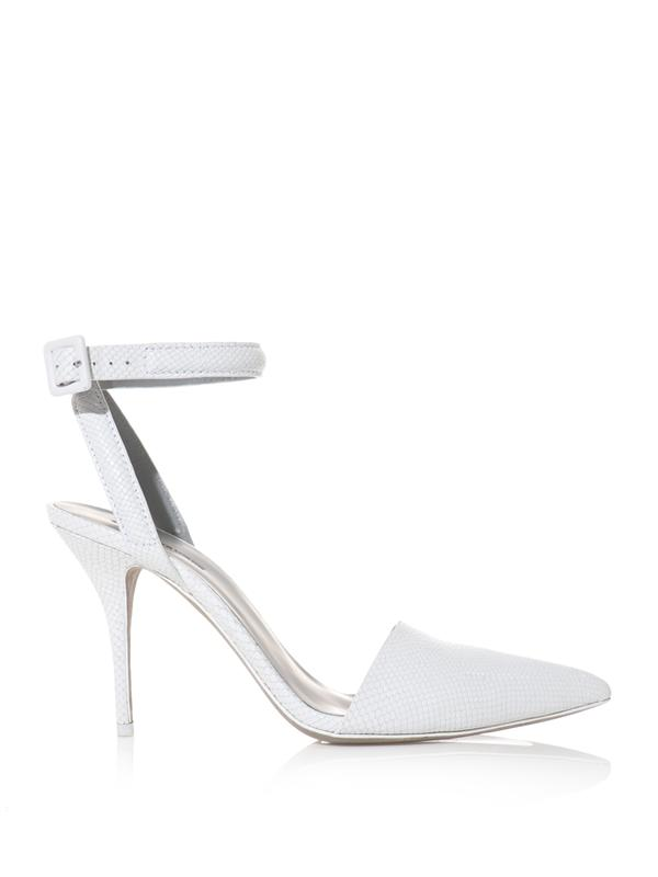 Alexander Wang Lovisa Leather Point-Toe Pumps In White