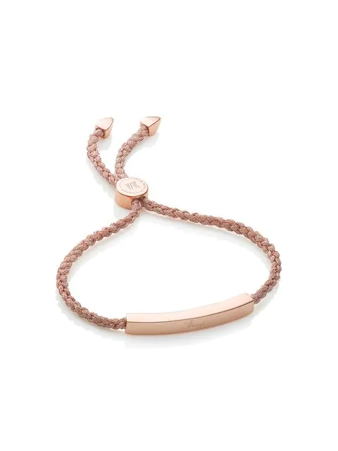 Monica Vinader Rp Linear Friendship Bracelet - Rose Gold Metallica, Os