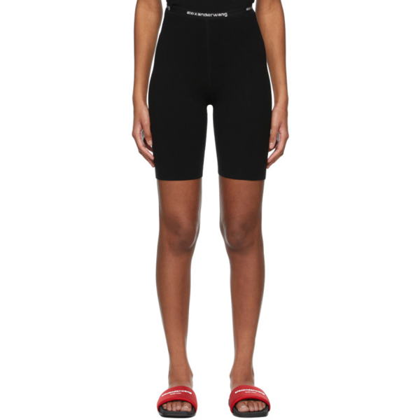 Alexander Wang T Alexanderwang.t Black Stretch-knit Cycling Shorts In 001 Black